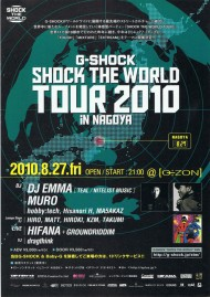 G-SHOCK/SHOCK THE WORLD TOUR 2010