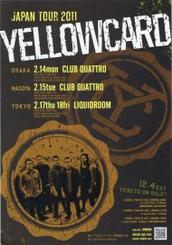 YELLOWCARD JAPAN TOUR 2011