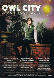 OWL CITY JAPAN TOUR 2010